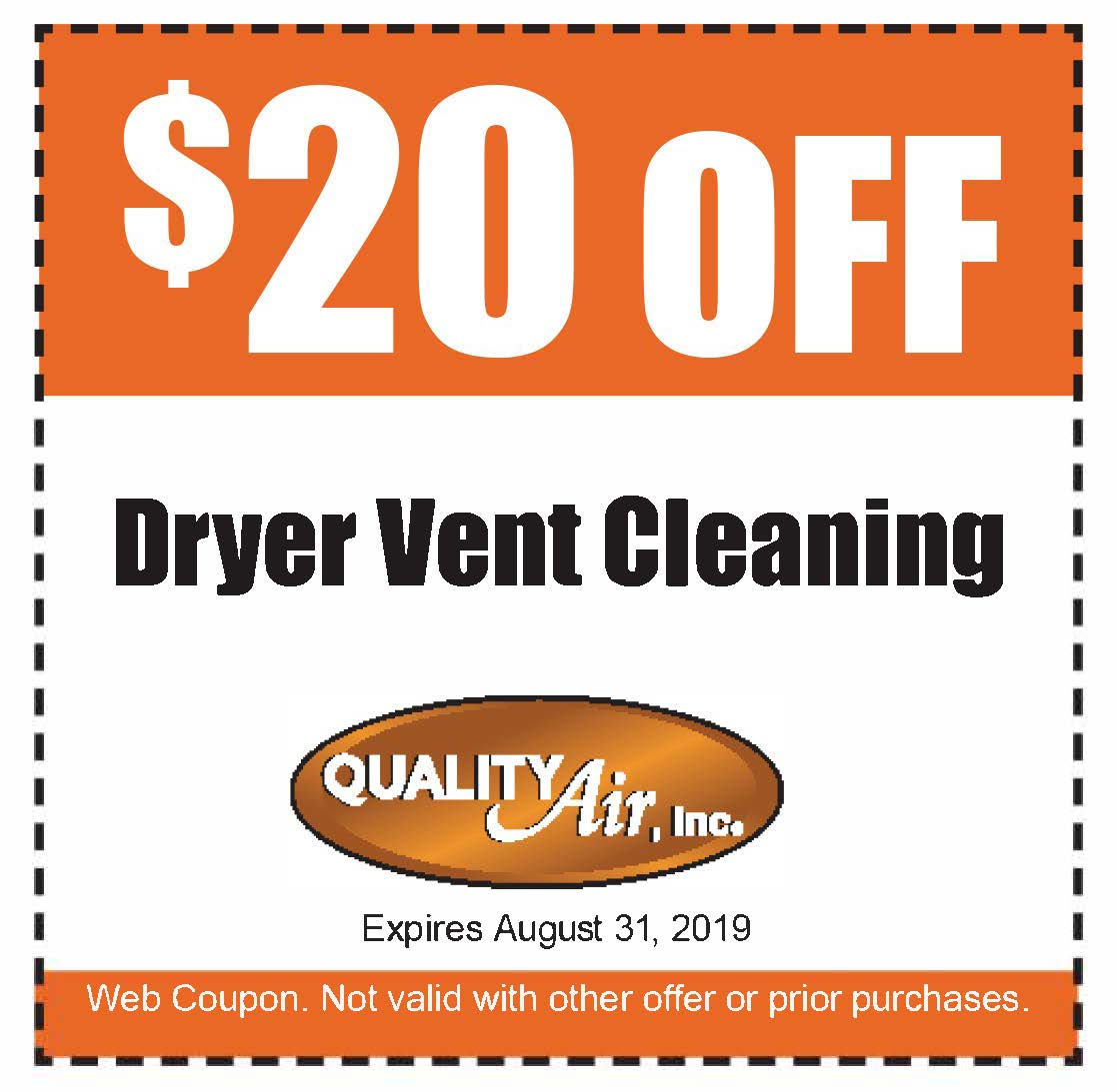 $20 Off Dryer Vent Cleaning