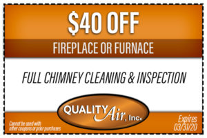 $40 off furnace or chimney cleaning inspection