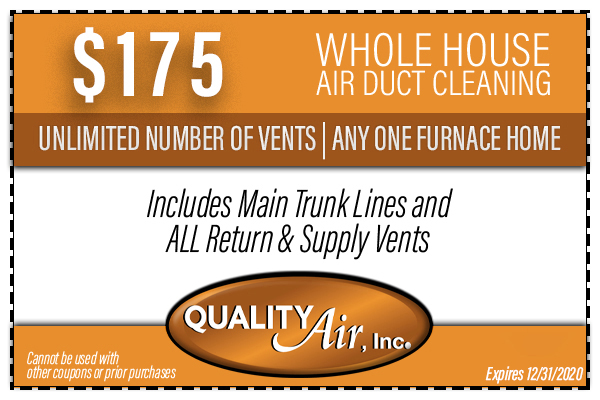 $175 Whole House Air Duct Cleaning