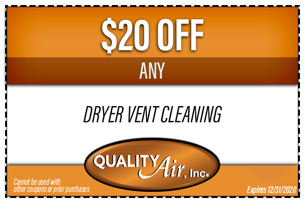 $20 OFF Any Dryer Vent Cleaning
